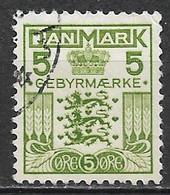 Denmark 1934. Scott #I4 (U) Coat Of Arms - Port Dû (Taxe)