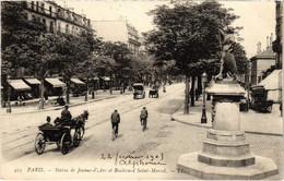 CPA Paris 5e LL. 423. Statue De Jeanne-d'Arc Et Boulevard Saint-Marcel (80621) - Statues
