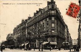 CPA Paris 18e - Le Boulevard Barbés Et La Rue Labat (80708) - Paris (18)