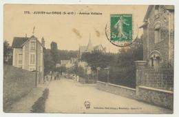 JUVISY SUR ORGE - Avenue Voltaire - Animée - Juvisy-sur-Orge