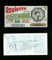 Gratta E Vinci - Roulette - Saint Vincent - Lotto 139 - Loterijbiljetten