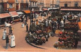 DIEPPE - La Place Nationale - Le Marché Aux Fleurs - Dieppe