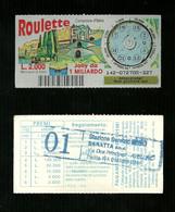 Gratta E Vinci - Roulette - Campione D'Italia - Lotto 142 - Loterijbiljetten