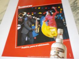 PUBLICITE  VODKA  SMIRNOFF 1984 - Alcohols