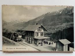 67 - GARE DE WEISSENBOURG - ANIMÉE - AVEC TRAIN - 1918 - Wissembourg
