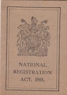 NATIONAL REGISTRATION ACT 1915. IDENTITY DOCUMENT, MADE IN LONDRES. CONSULADO ARGENTINE. SERGIO GARCIA URIBURU -LILHU - Historische Dokumente