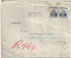 SEGUNDA REPUBLICA CC A ALEMANIA MAT ALCANCE NORTE MADRID CERTIFICADO 1934 AL DORSO LLEGADA A DÖBELN - 1931-50 Lettres