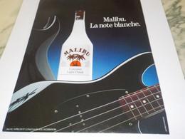 ANCIENNE  PUBLICITE LA NOTE BLANCHE MALIBU  1984 - Alcohols