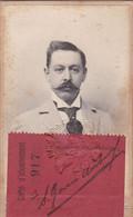 EXPOSITION NATIONALE SUISSE, GENEVE 1896. CARTE D'ABONNEMENT. SERGIO GARCIA URIBURU, CONSUL DE ARGENTINA. -LILHU - Eintrittskarten
