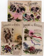 Lot De 5 Cartes Postales Anciennes - Fantaisie - Langages .....divers - 2 Scan. - 5 - 99 Cartoline