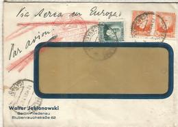 SEGUNDA REPUBLICA 1933 CC CANARIAS LAS PALMAS A ALEMANIA MAT AMBULANTE ANDALUCIA 11 CERTIFICADO TRANSITO POR PARIS Y LL - 1931-50 Lettres