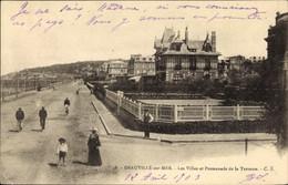 CPA Deauville Sur Mer Calvados, Les Villas Et Promenade De La Terrasse - Autres Communes