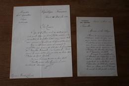 2 Autographes A Identifier Sur Des Courriers Concernant Des Médailles - Autografi