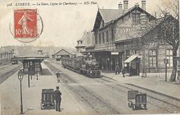 CPA Lisieux La Gare Ligne De Cherbourg - Lisieux