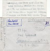 Waffen SS Lot 12 SS Panzer Divisie HJ Hitler Jugend Feldpost Lettre Couvert - 1939-45
