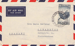 PAPUA-NEW GUINA - AIRMAIL 1957 2Sh KOKOPO -> OSNABRÜCK/GERMANY /AS164 - Papua New Guinea