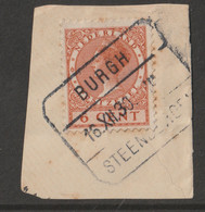 Nederland 1924  NVPH Nr. 150 Met Treinstempel Burgh - Steenbergen - Usados
