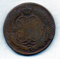 RUSSIA, 1 Kopek, Copper, Year 1758, KM #6.1 - Rusland