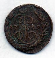 RUSSIA, 1 Kopek, Copper, Year 1789-EM, KM #57.2 - Rusland