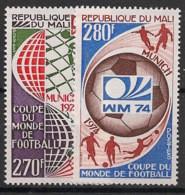 Mali - 1974 - N°Yv. 216 à 217 - Football World Cup / Deutschland 74 - Neuf Luxe ** / MNH / Postfrisch - Mali (1959-...)