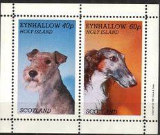 {E200} Dogs Sheet Of 2 MNH** LABEL Cinderella !! - Fantasie Vignetten