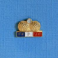 1 PIN'S //  ** FFPJP /  BOULES & COCHONNET / FÉDÉRATION FRANÇAISE DE PÉTANQUE ET JEU PROVENÇAL ** - Bocce