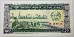 Billete Laos. 1979. 100 Kip. Comunista. Mujer Agricultora. Soldado. Fábrica. SC. Sin Circular. Posibilidad De Números Co - Laos