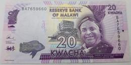 Billete Malawi. 2016. 20 Kwacha. SC. Sin Circular. Colegio. Pez. Posibilidad De Números Correlativos - Malawi