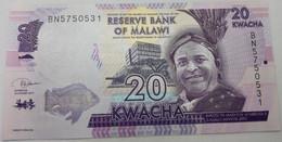 Billete Malawi. 2019. 20 Kwacha. SC. Sin Circular. Colegio. Pez. Posibilidad De Números Correlativos - Malawi