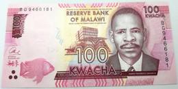 Billete Malawi. 2017. 100 Kwacha. SC. Sin Circular. Colegio Medicina. Pez. Posibilidad De Números Correlativos - Malawi