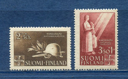Finlande - YT N° 269 Et 270 - Neuf Sans Charnière - 1943 - Ungebraucht