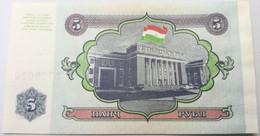 Billete Tajikistan. 1994. 5 Rublos. SC. Sin Circular. Posibilidad De Números Correlativos - Tajikistan