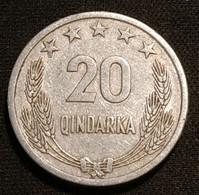 ALBANIE - ALBANIA - 20 QINDARKA 1964 - KM 41 - Albania