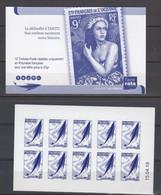 POLYNESIE. CARNET A USAGE COURANT Emblème Postal Bleu CD 15 04 19 Scan Recto Verso - Boekjes