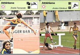GF1014 - FICHES RENCONTRE - ATHLETISME - BRUCH STRAND ISAKSSON HAEGG TANNANDER GARDERUD - Atletismo