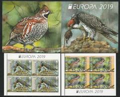 "BULGARIA /BULGARIE / BULGARIEN-EUROPA 2019 -NATIONAL BIRDS.-""AVES - BIRDS - VÖGEL -OISEAUX""- CARNET Con 2 BLOCS - 2019"