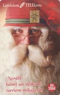 Télécarte à PUCE LETTONIE - PERE NOEL - SANTA CLAUS CHRISTMAS LATVIA Chip Phonecard - WEIHNACHTEN - Latvia
