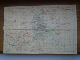 Assez Rare Ancienne Carte Topographique De 1931 De La Région De Tafilalet Au Maroc ( Papier Sur Toile ) ( 50 X 33 Cm ) - Geographical Maps