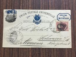 HE2755 Peru Ganzsache Stationery Entier Postal Karte Von Payta Nach Schwerin, Viel Text - Peru