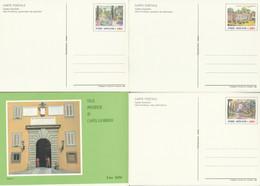 SERIE INTERI VATICANO VILLE PONTIFICIE NUOVI (KP433 - Interi Postali