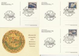 SERIE INTERI VATICANO MANOSCRITTI CARTOGRAFICI -FDC (KP429 - Interi Postali