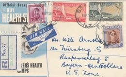 RACCOMANDATA NUOVA ZELANDA 1952 DIRETTA GERMANIA US ZONE (KP445 - Cartas