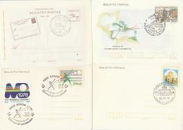 LOTTO 4 INTERI POSTALI ITALIA ANNULLO SPECIALE/FDC (KP318 - Interi Postali