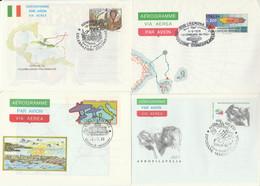 LOTTO 4 INTERI POSTALI ITALIA ANNULLO SPECIALE/FDC (KP315 - Interi Postali