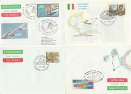 LOTTO 4 INTERI POSTALI ITALIA ANNULLO SPECIALE/FDC (KP314 - Interi Postali