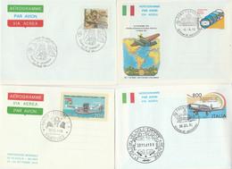 LOTTO 4 INTERI POSTALI ITALIA ANNULLO SPECIALE/FDC (KP313 - Postwaardestukken