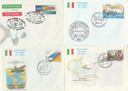 LOTTO 4 INTERI POSTALI ITALIA ANNULLO SPECIALE/FDC (KP312 - Interi Postali
