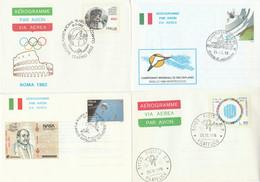LOTTO 4 INTERI POSTALI ITALIA ANNULLO SPECIALE/FDC (KP311 - Interi Postali