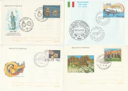 LOTTO 4 INTERI POSTALI ITALIA ANNULLO SPECIALE/FDC (KP310 - Interi Postali