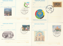LOTTO 4 INTERI POSTALI ITALIA ANNULLO SPECIALE/FDC (KP303 - Postwaardestukken